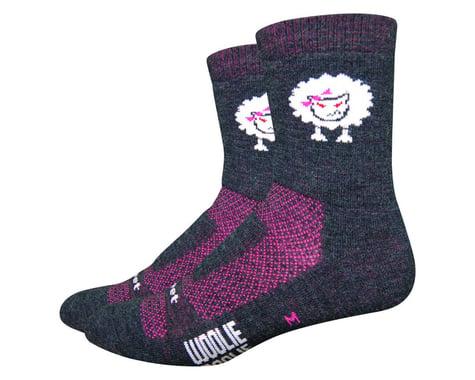 """DeFeet Woolie Boolie 4"""" Baaad Sheep Sock (Charcoal/Neon Pink) (S)"""