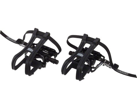 "Dimension Combo Compe Pedal/Toe Clip Set (Aluminum) (9/16"")"