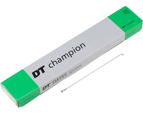 DT Swiss Champion Threadless J-bend Spokes (Silver) (2.0mm) (315mm)
