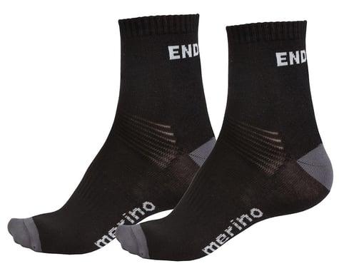 Endura BaaBaa Merino Sock (Black) (Twin Pack) (S/M)