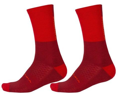 Endura BaaBaa Merino Winter Socks (Rust Red) (S/M)