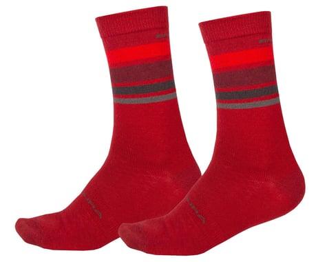 Endura BaaBaa Merino Stripe Sock (Red) (S/M)