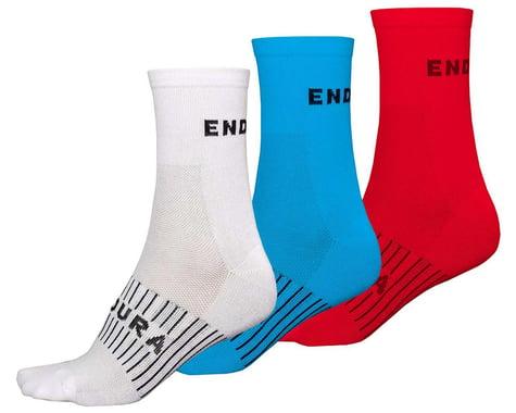 Endura Coolmax Race Sock (Triple Pack) (Red/White/Blue) (S/M)