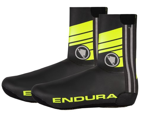 Endura Road Overshoe Shoe Covers (Hi-Vis Yellow) (M)
