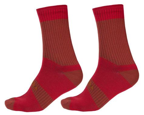 Endura Hummvee Waterproof Socks II (Rust Red) (S/M)
