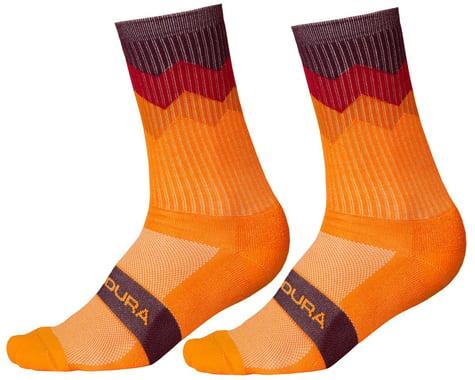 Endura Jagged Sock (Tangerine) (S/M)