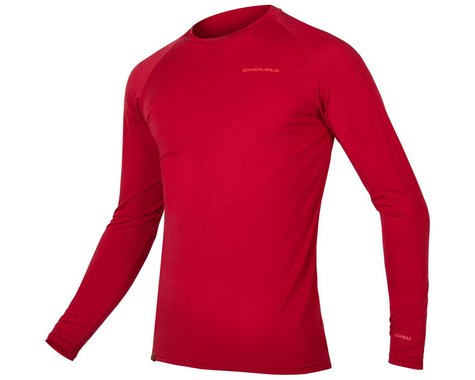 Endura BaaBaa Blend Long Sleeve Base Layer (Rust Red) (M)