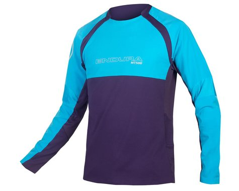 Endura MT500 Burner Long Sleeve Jersey II (Electric Blue) (2XL)