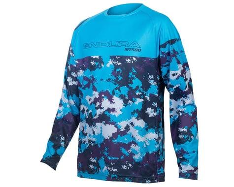 Endura Kids MT500JR Long Sleeve Jersey (Electric Blue) (Youth L)