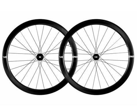 Enve 45 Foundation Series Disc Brake Wheelset (Black) (Shimano/SRAM 11spd Road) (12 x 100, 12 x 142mm) (700c / 622 ISO)