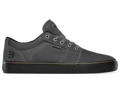 Etnies Barge LS Flat Pedal Shoes (Dark Grey/Black/Gum) (9)