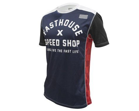 Fasthouse Inc. Classic Heritage Short Sleeve Jersey (Navy) (L)