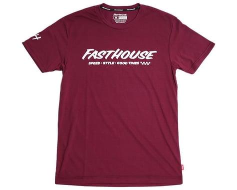 Fasthouse Inc. Prime Tech Short Sleeve T-Shirt (Maroon) (L)