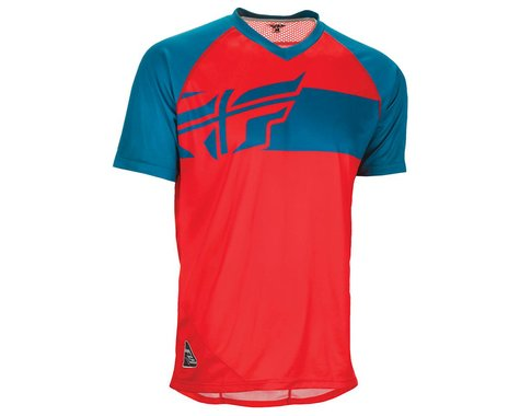 Fly Racing Action Elite Jersey (Red/Dark Teal) (L)