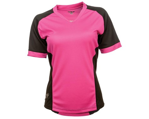Fly Racing Lilly Ladies Jersey (Black/Pink) (S)