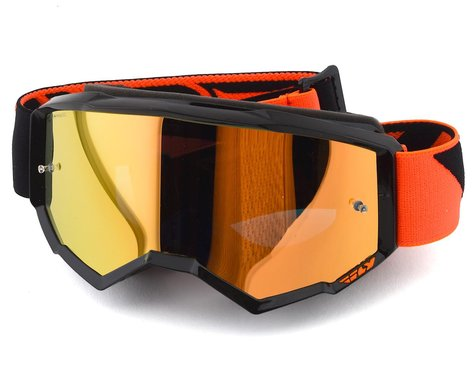 Fly Racing Zone Youth Goggle (Black/Orange) (Orange Mirror Lens)