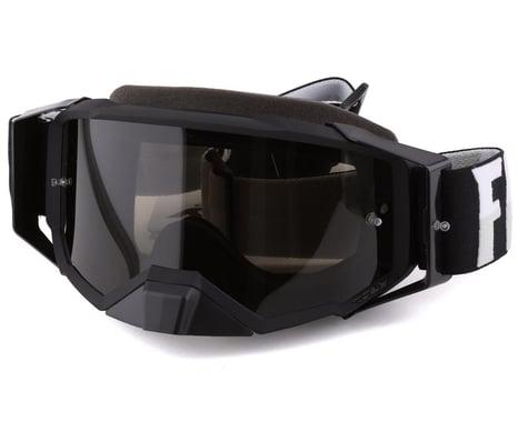Fly Racing Zone Pro Goggles (Black/White) (Dark Smoke Lens) (w/ Post)