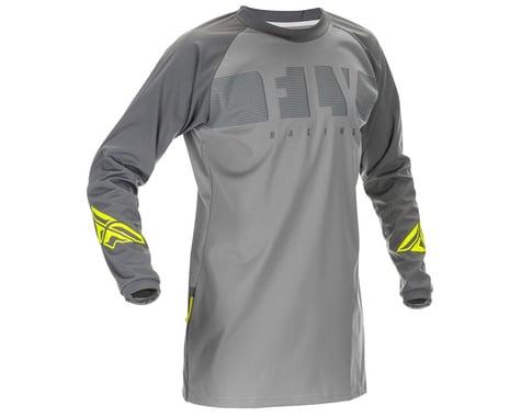 Fly Racing Windproof Jersey (Grey/Hi Vis) (XL)