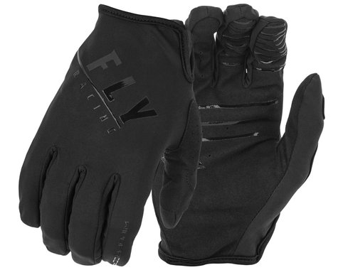 Fly Racing Windproof Gloves (Black) (3XL)
