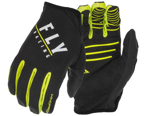 Fly Racing Windproof Gloves (Black/Hi-Vis) (S)