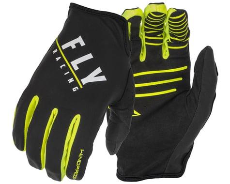 Fly Racing Windproof Gloves (Black/Hi-Vis) (M)