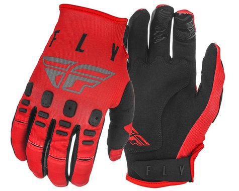 Fly Racing Kinetic K121 Gloves (Red/Grey/Black) (S)