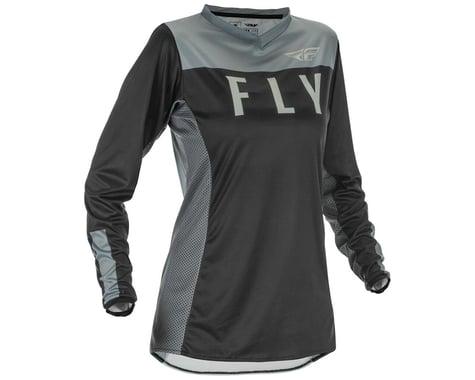 Fly Racing Women's Lite Jersey (Black/Grey) (L)