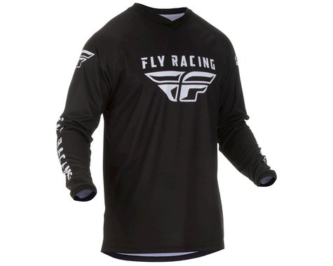 Fly Racing Universal Jersey (Black/White) (L)