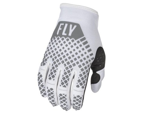 Fly Racing Youth Kinetic Gloves (White) (Youth L)