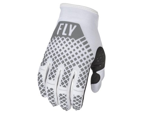 Fly Racing Youth Kinetic Gloves (White) (Youth S)
