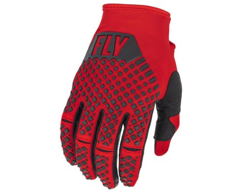 Fly Racing Youth Kinetic Gloves (Red/Black) (Youth L)