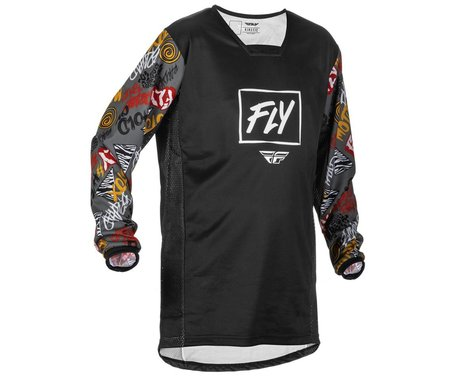 Fly Racing Youth Kinetic Rebel Jersey (Black/Grey) (Youth XL)