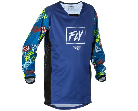 Fly Racing Youth Kinetic Rebel Jersey (Blue/Light Blue) (Youth M)