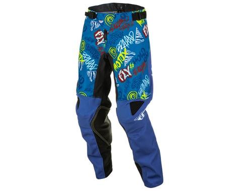 Fly Racing Youth Kinetic Rebel Pants (Blue/Light Blue) (20)