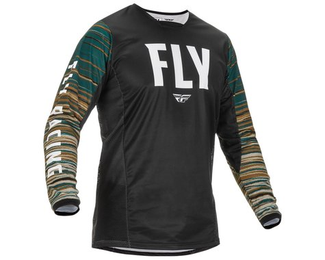 Fly Racing Kinetic Wave Jersey (Black/Rum) (S)