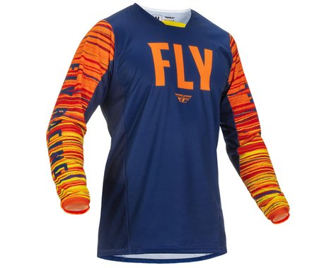 Fly Racing Kinetic Wave Jersey (Navy/Orange) (M)