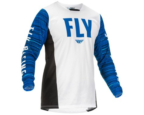 Fly Racing Kinetic Wave Jersey (White/Blue) (S)