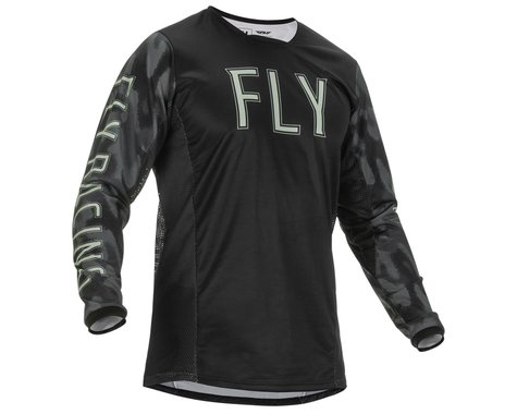 Fly Racing Kinetic S.E. Tactic Jersey (Black/Grey Camo) (S)