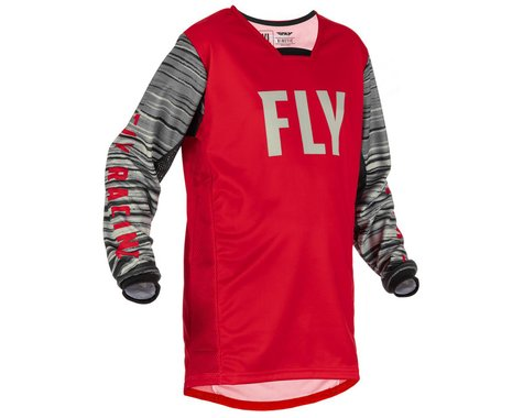 Fly Racing Youth Kinetic Wave Jersey (Red/Grey) (Youth S)