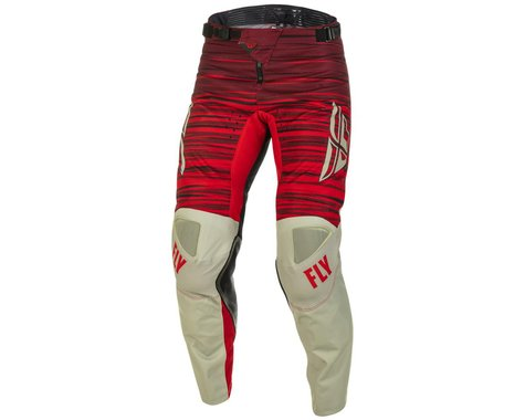 Fly Racing Kinetic Wave Pants (Light Grey/Red) (38)
