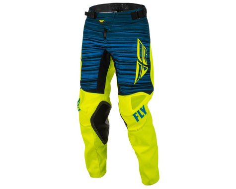 Fly Racing Youth Kinetic Wave Pants (Hi-Vis/Blue) (18)