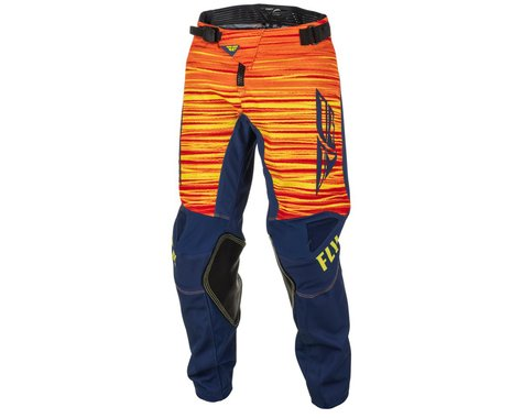 Fly Racing Youth Kinetic Wave Pants (Navy/Yellow/Red) (18)