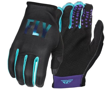 Fly Racing Women's Lite Gloves (Black/Aqua) (Youth L)