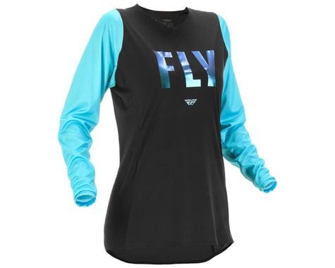 Fly Racing Women's Lite Jersey (Black/Aqua) (S)