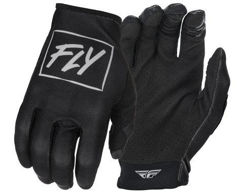 Fly Racing Youth Lite Gloves (Black/Grey) (Youth M)