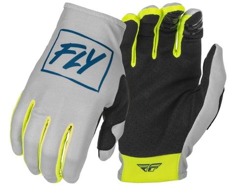 Fly Racing Lite Gloves (Grey/Teal/Hi-Vis) (2XL)
