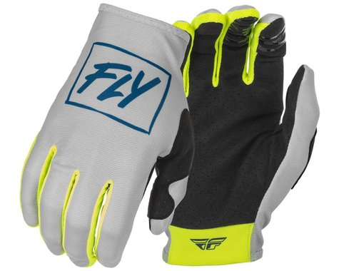 Fly Racing Youth Lite Gloves (Grey/Teal/Hi-Vis) (Youth M)