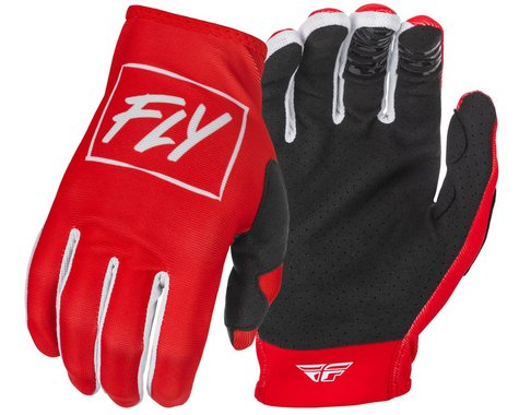 Fly Racing Youth Lite Gloves (Red/White) (Youth M)