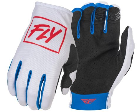 Fly Racing Youth Lite Gloves (Red/White/Blue) (Youth S)
