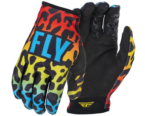 Fly Racing Youth Lite S.E. Exotic Gloves (Red/Yellow/Blue) (Youth M)